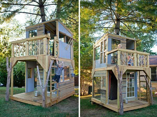 Two-Story Treehouse from both sides