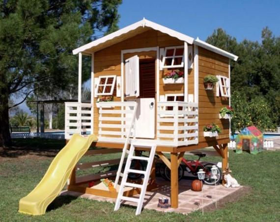 wooden-playhouse-slide