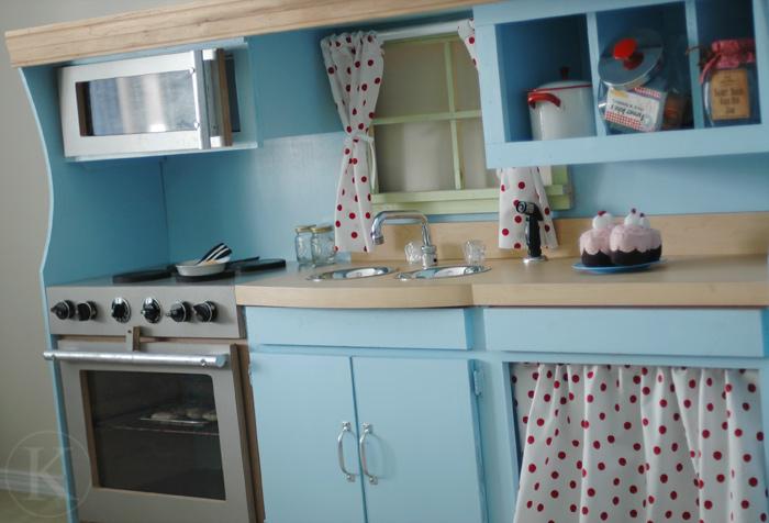 Blue Play Kitchen  Kitchen For Kids
