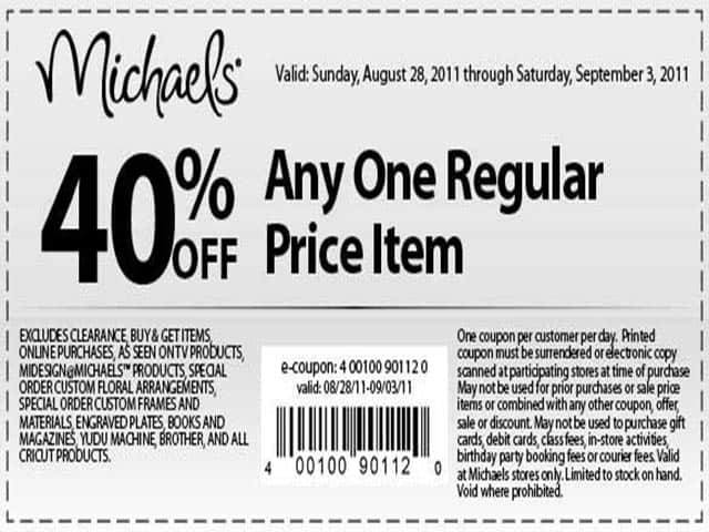 Printable Coupons At Michaels