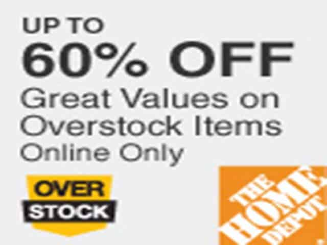 Home Depot – 60% Off Overstock Items