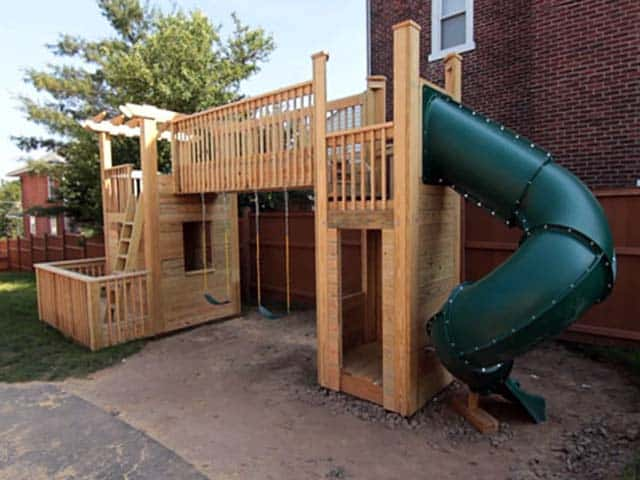 Do It Yourself Home Design: How To Build An Outdoor Wood Playset Of Your Dreams