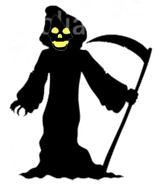 Make Witch and Grim Reaper Halloween Silhouettes