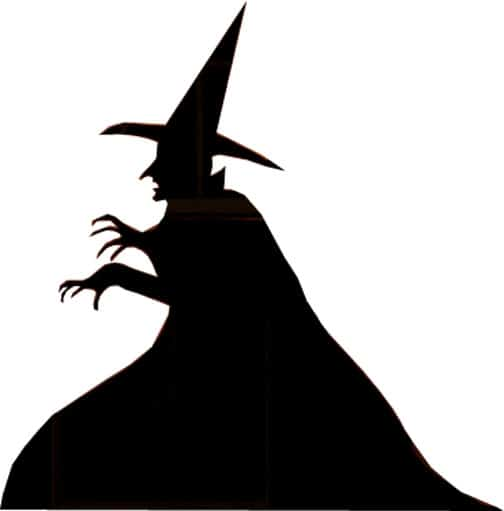 Witch Silhouettes Make And Grim Reaper Halloween