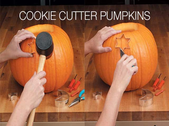 Carving Pumpkins with Cookie Cutters