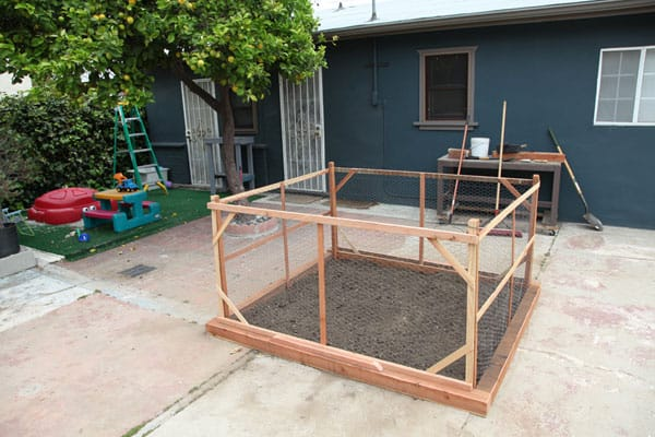 After Excavating Stones And Concrete Rubble, Aaron Framed In Our Garden  Space With Removable Gates And We Amended The Soil.