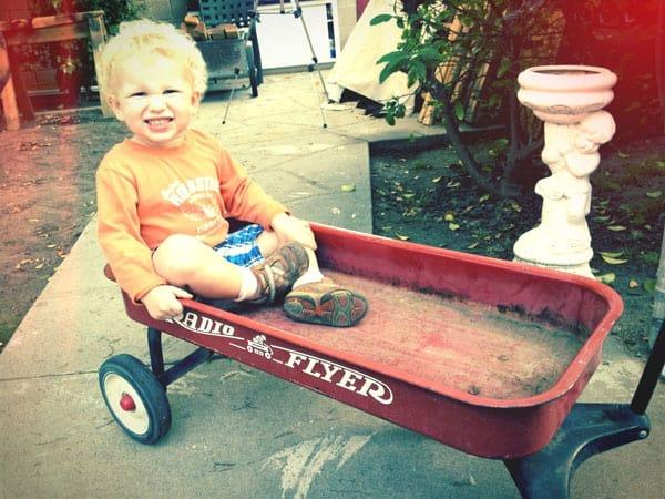 sitting-radio-flyer-wagon