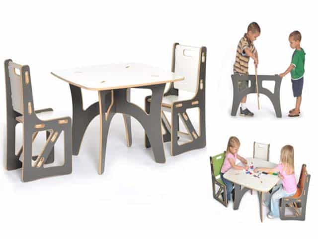 modern kid built furniture from sprout