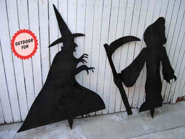Make Wicked Witch and Grim Reaper Halloween Silhouettes