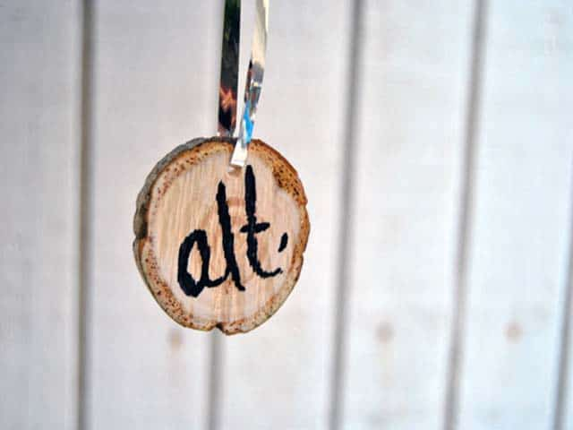 Make a Wood Ornament from Your Christmas Tree