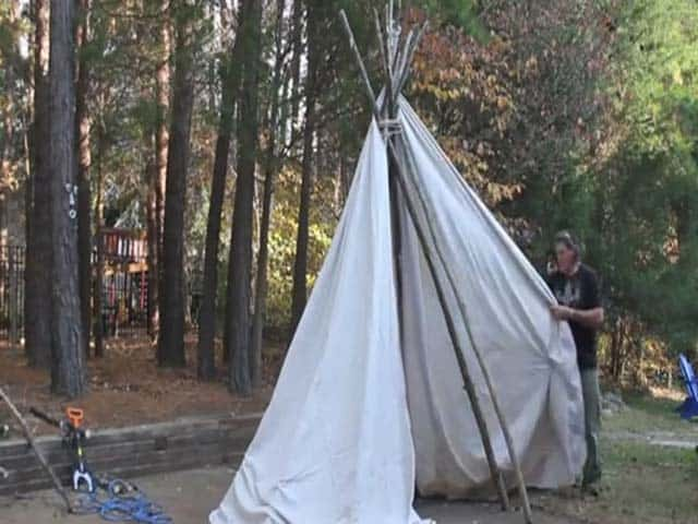 How to Build a Teepee in Your Backyard