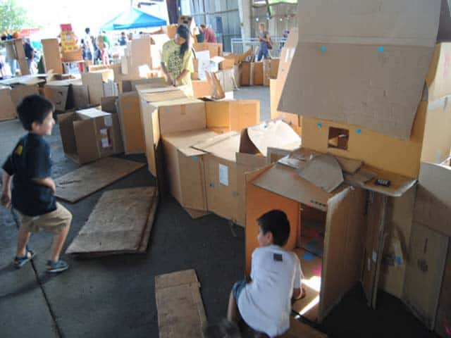 Global Cardboard Challenge at Caine's Arcade