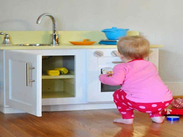 Old Cabinet To Kids Play Kitchen
