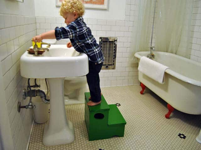 Our diy network storage step stool Bathroom step stool for kids