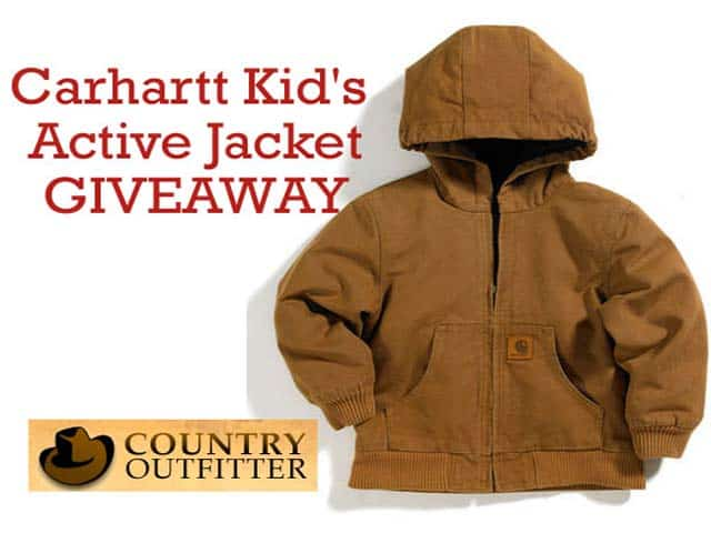 Country Outfitter Giveaway: Carhartt Kid's Jacket + Exclusive 10% Discount