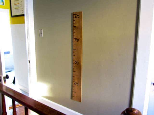 Build A Giant Ruler Height Chart