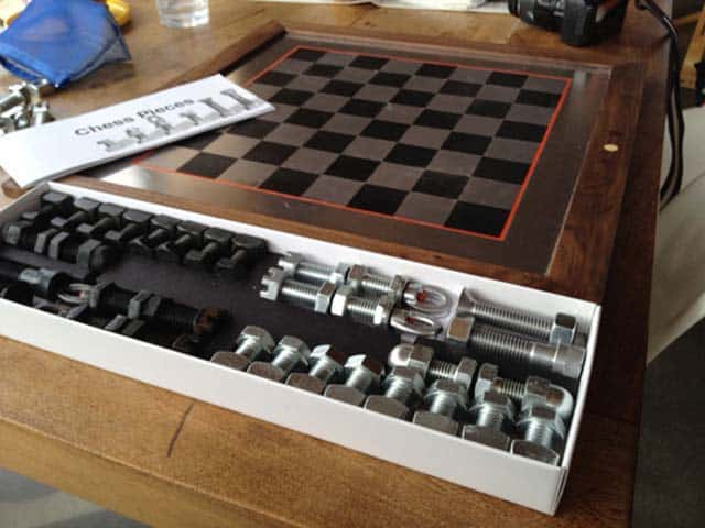 Inspiring: Nuts & Bolts Chess Set
