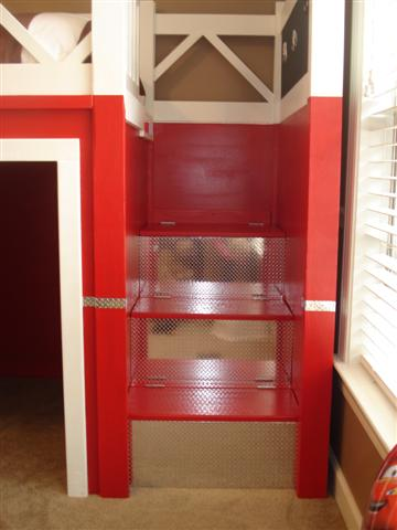 A Loft Bed Turned Fire Truck