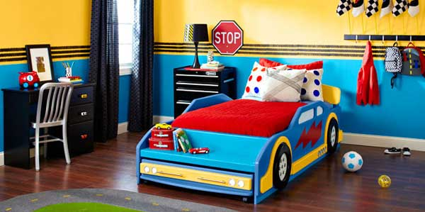 race-car-bedroom-kids