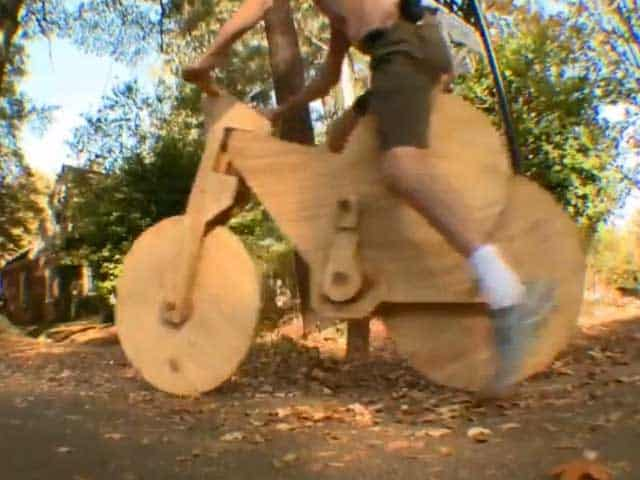 Teen Makes a Hand Built Wood Bike