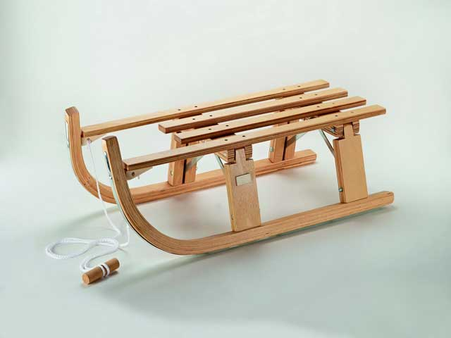 how to build a wooden snow sled