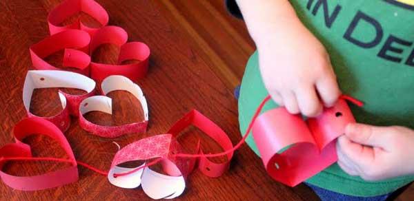 hearts chandelier valentines card