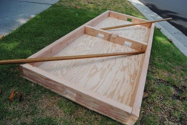 box hockey rink finished