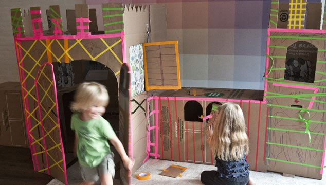 How to Build a Chic Cardboard Castle