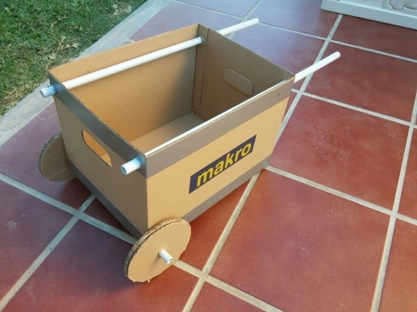 DIY Cardboard Wheelbarrow