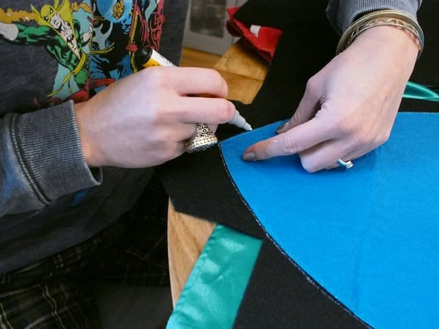gluing capes