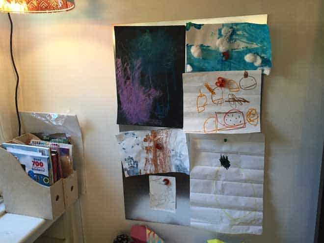 Make a Magnet Board to Hang Art in Any Room