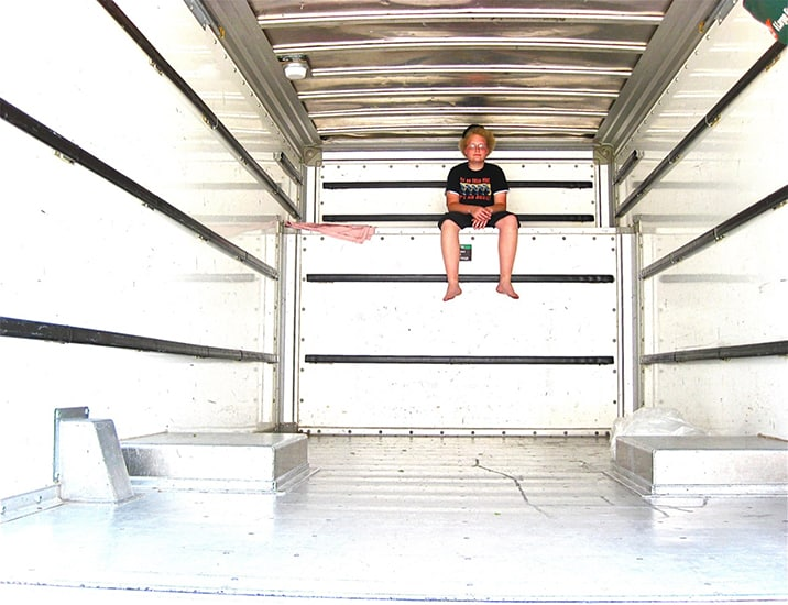 kid in moving truck
