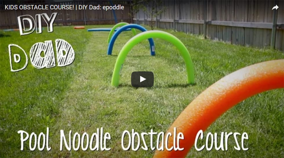 VIDEO: Build a Backyard Obstacle Course With Pool Noodles