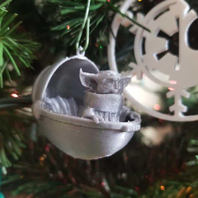 baby yoda christmas ornament