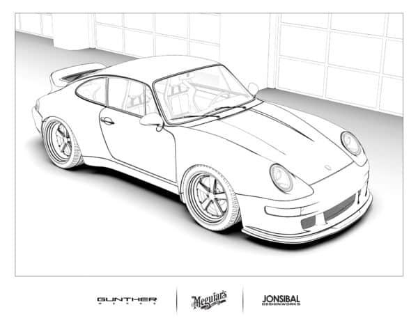 porsche 911 coloring page