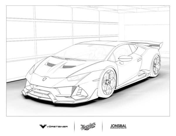 Lamborghini Huracan Evo coloring page
