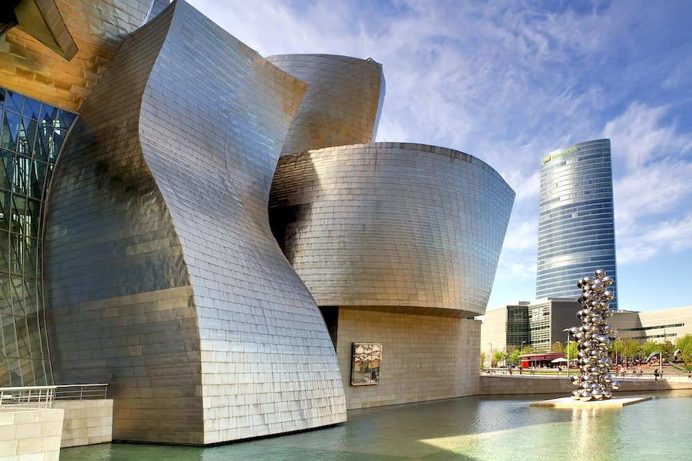 """Bilbao, Spain - May 1, 2012: Exterior of The Guggenheim Museum"""